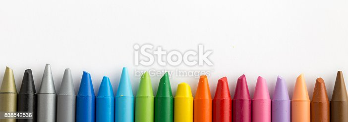 istock Crayons backgrounds 838542536