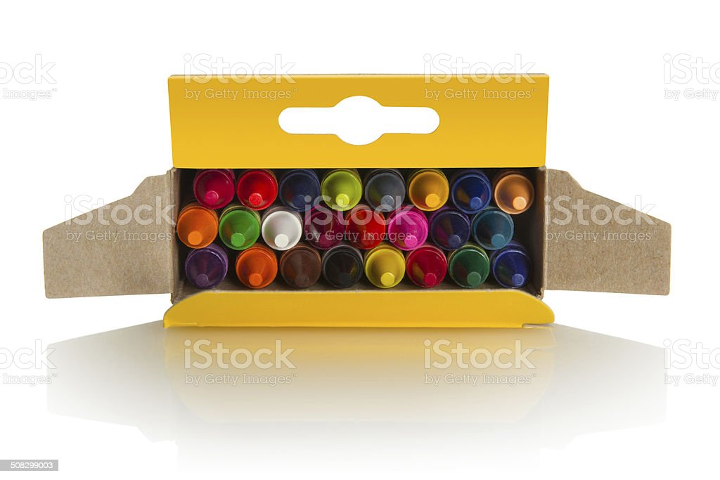 Crayons Box stock photo