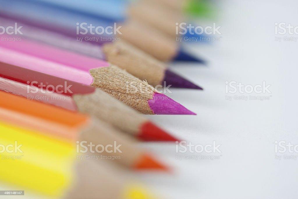 Buntstifte Makro stock photo