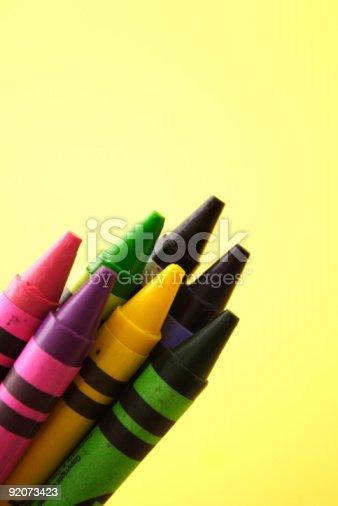 istock Crayons on yellow 92073423