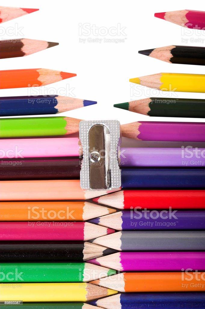 Crayons royalty-free stock photo