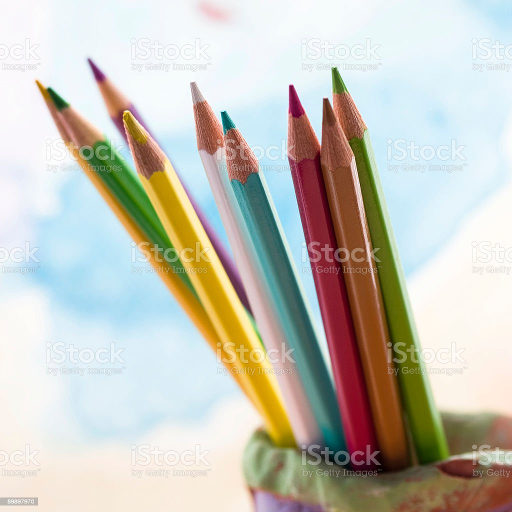 crayons foto de stock libre de derechos