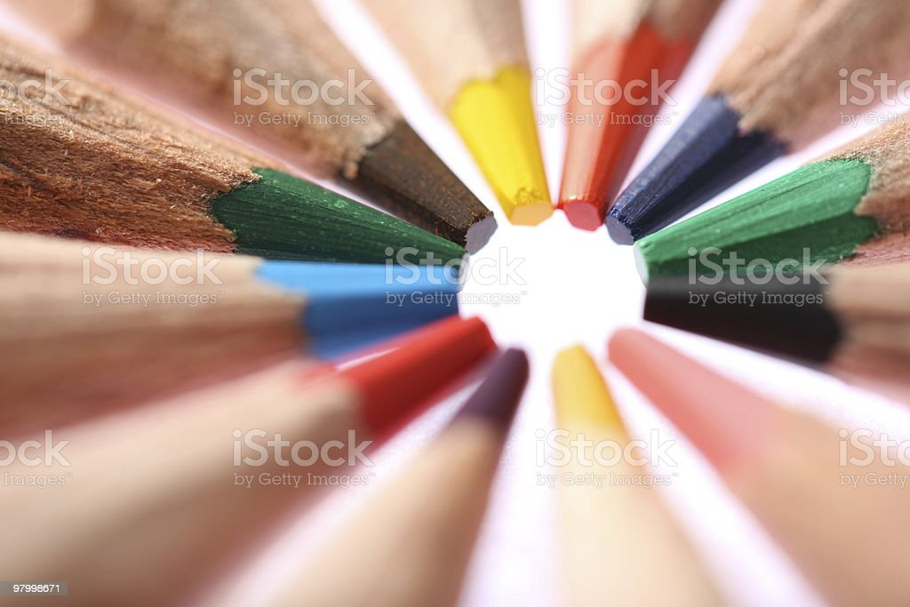 Crayons royalty free stockfoto