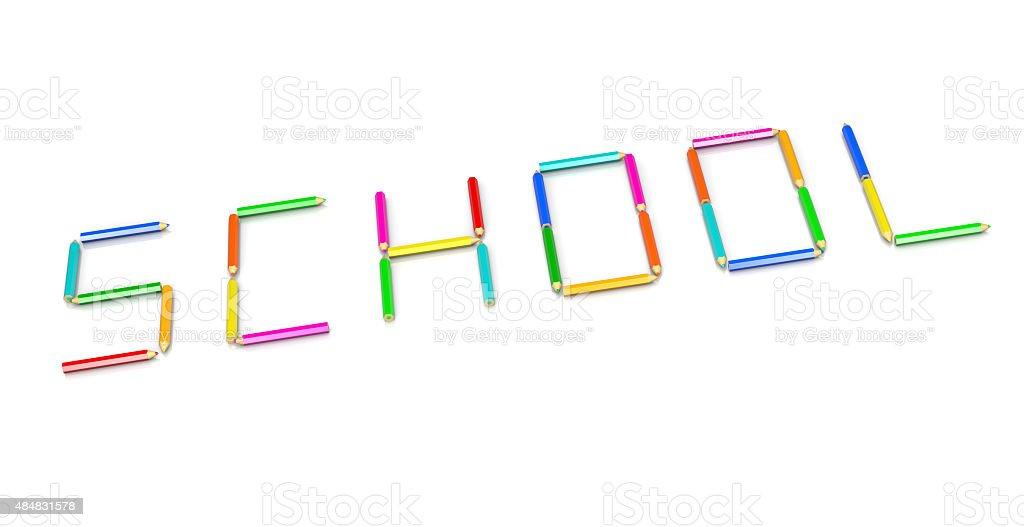 Crayons School Concept stock photo