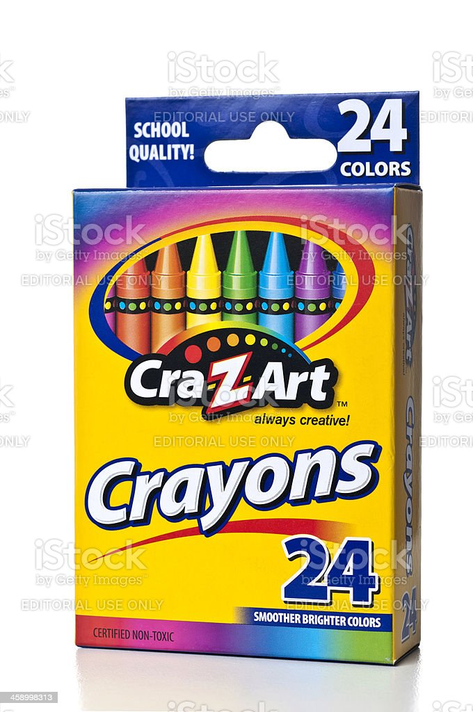 Crazart 24 Colors Crayons Box Stock Photo - Download Image Now - iStock