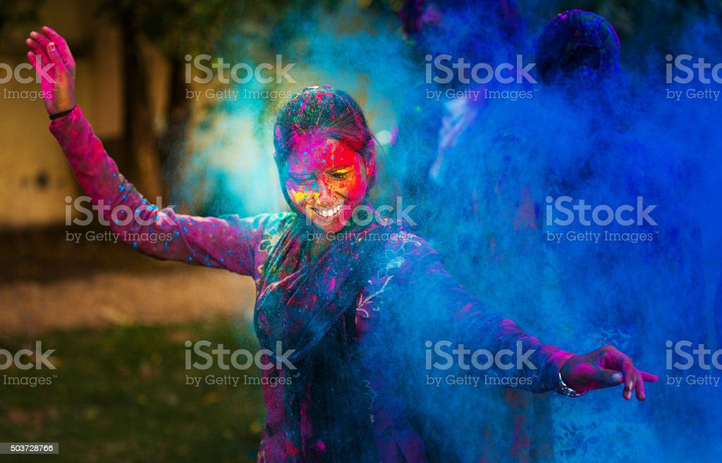 Crazy about Holi stock photo