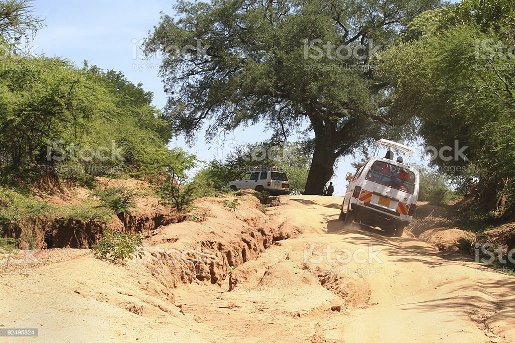 Crazy African Roads royalty-free stock photo