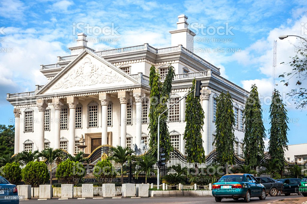 Crazy architecture in Abuja, Nigeria. stock photo
