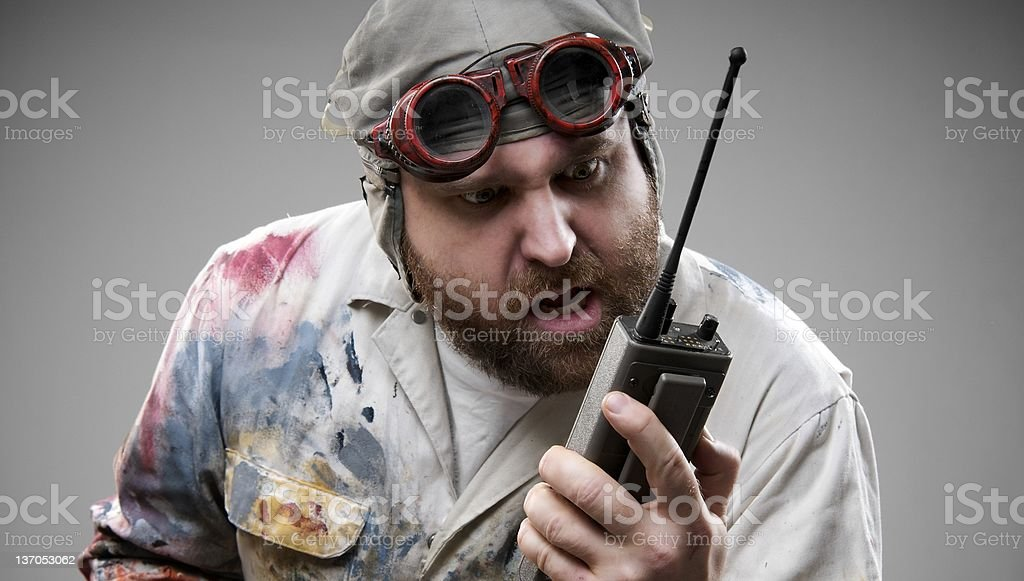 Crazy Aviator stock photo