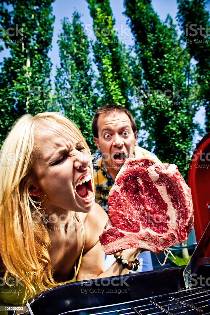Crazy barbecue royalty-free stock photo