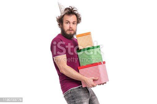 istock Crazy bearded man - holidays concept 1130733776