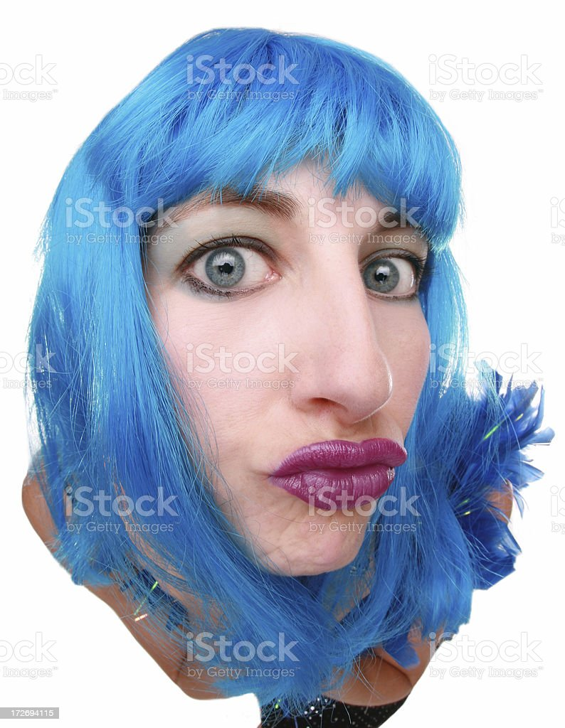 Crazy Blue royalty-free stock photo