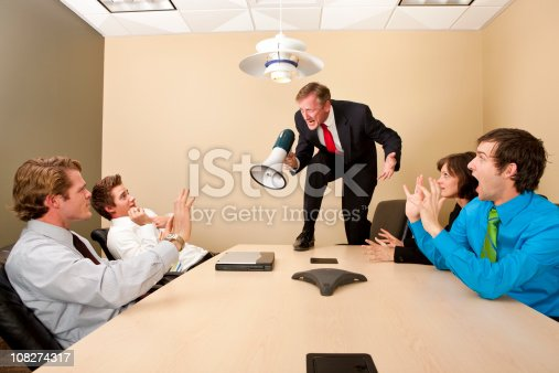 istock Crazy Boss Yelling at Employees 108274317