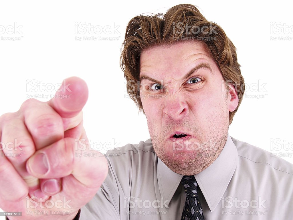 Crazy Boss/Co-worker royalty-free stock photo
