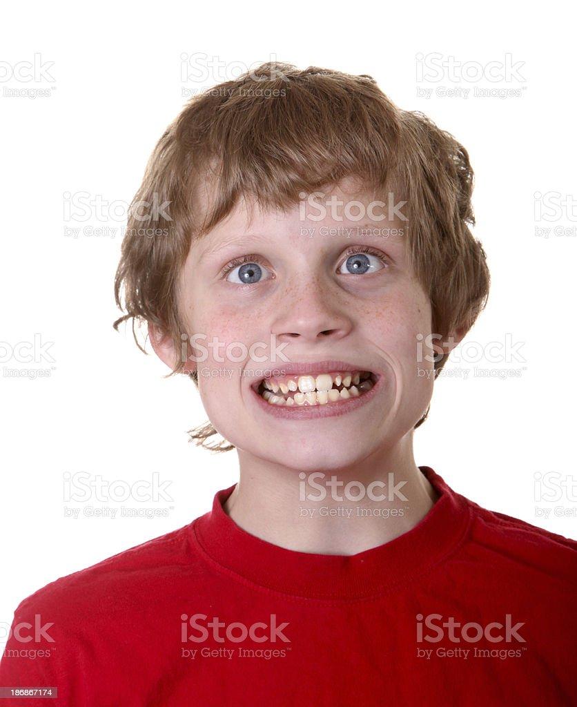crazy boy royalty-free stock photo