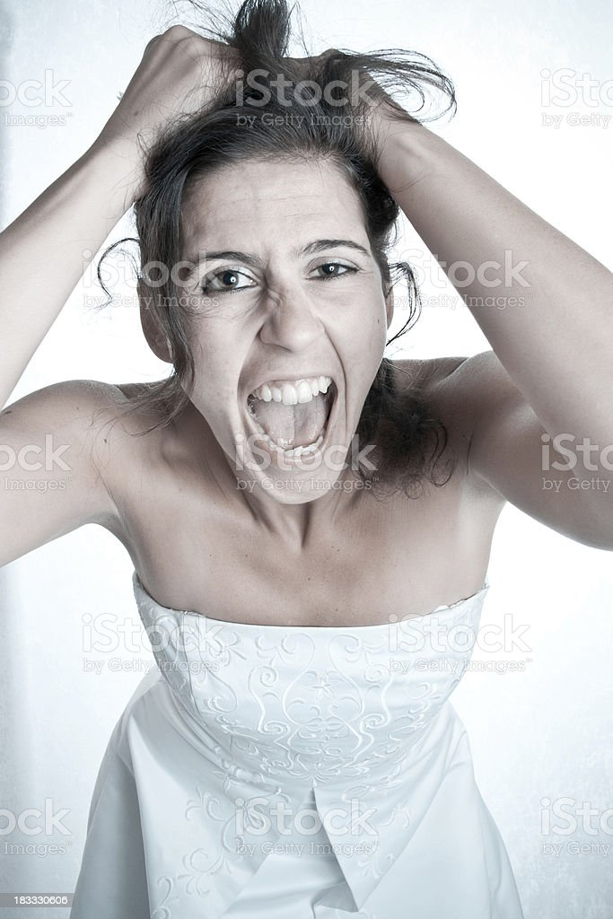 Crazy Bride stock photo