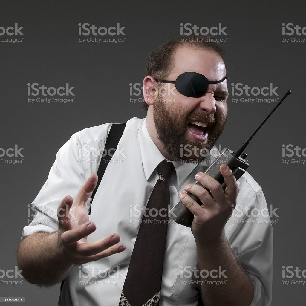 Crazy Business Man stock photo