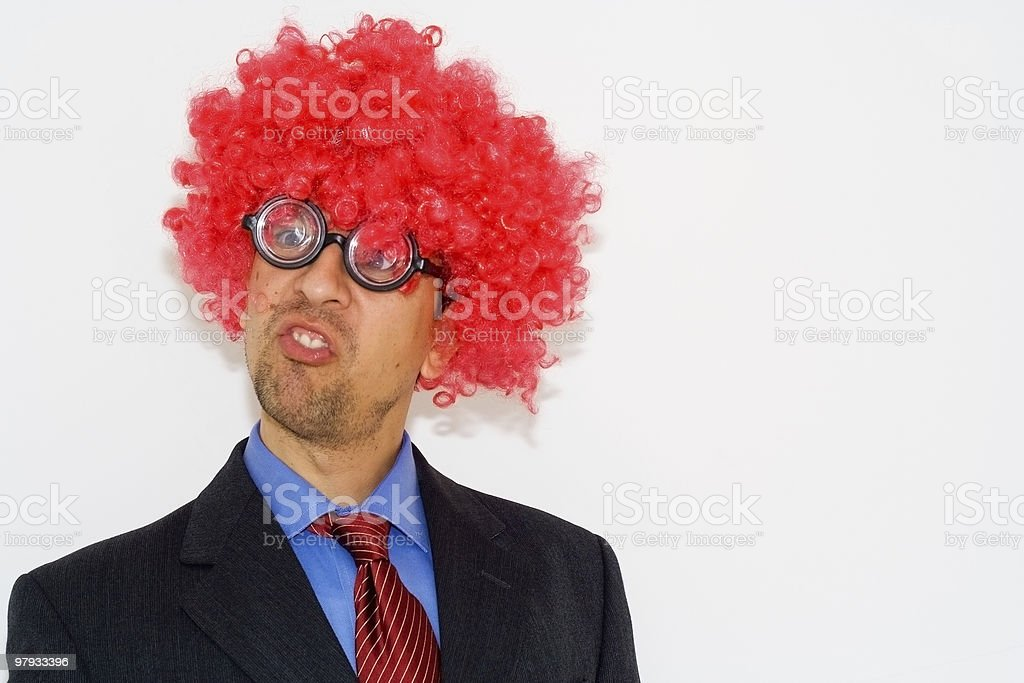 Crazy cientist looking royalty-free stock photo