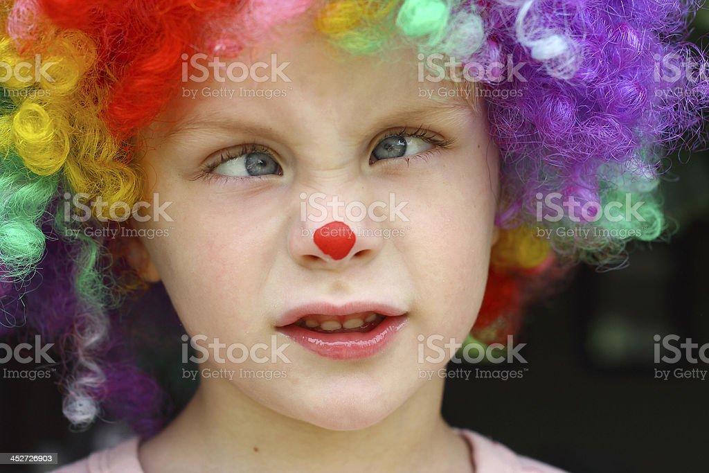 Crazy Clown Kid stock photo
