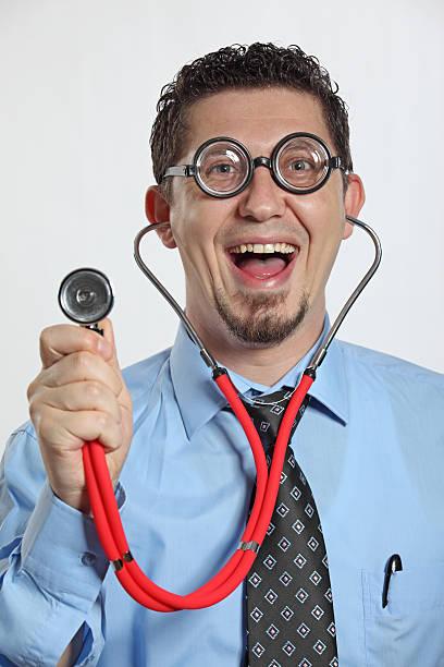 Crazy Doctor stock photo