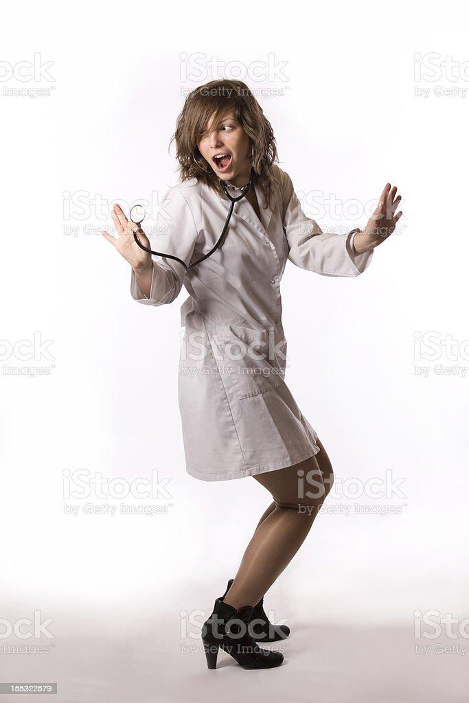 Crazy Arzt mit Stethoskop – Foto
