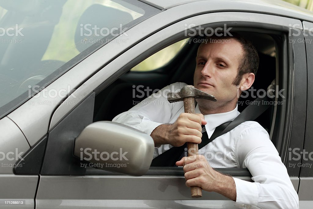 Crazy driver royalty-free stock photo
