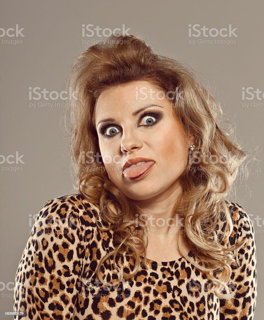 Crazy Elegant Woman royalty-free stock photo