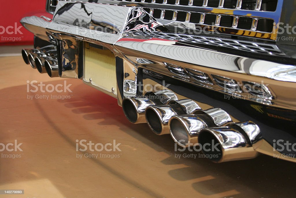 crazy exhaust pipes royalty-free stock photo