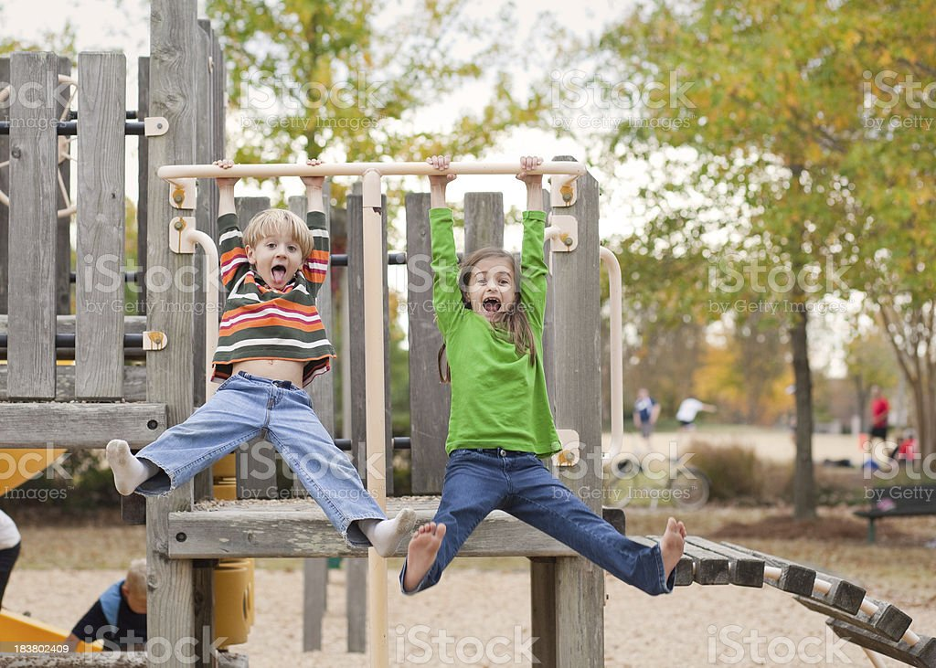 Crazy Fun at the Park royalty-free stock photo