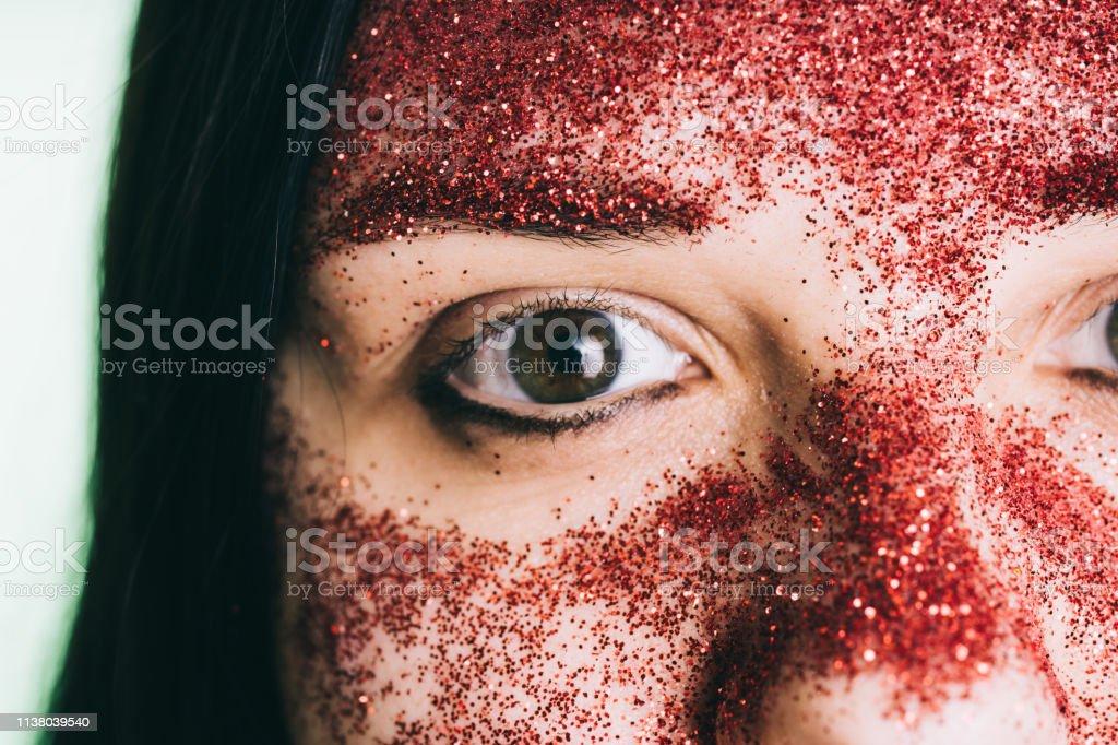Bizarre portrait with painted face