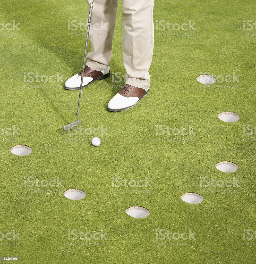Crazy Golf royalty-free stock photo