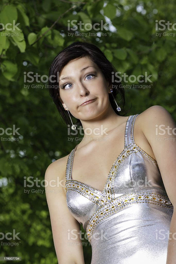 Crazy Grad Face royalty-free stock photo