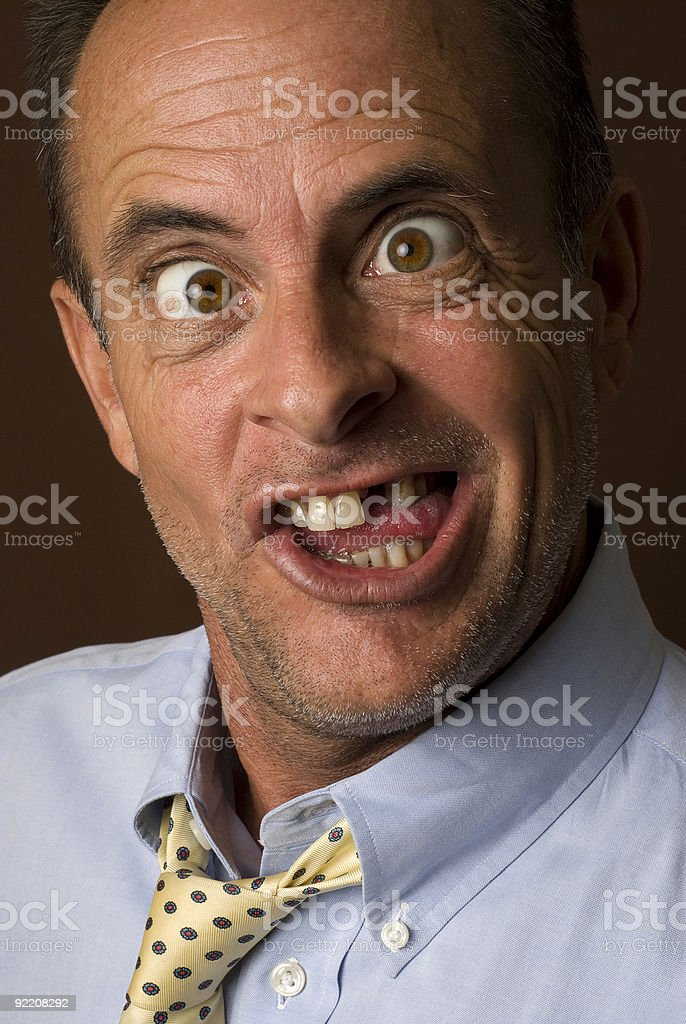 Crazy Guy Portrait stock photo