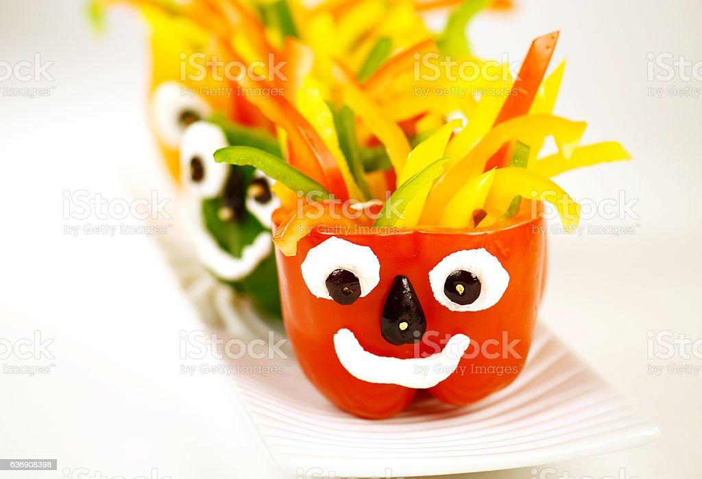 Crazy Hair Pepper Monster stock photo