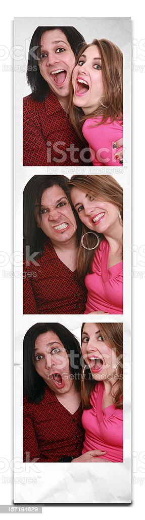 Crazy Kids In A Photo Booth stock photo