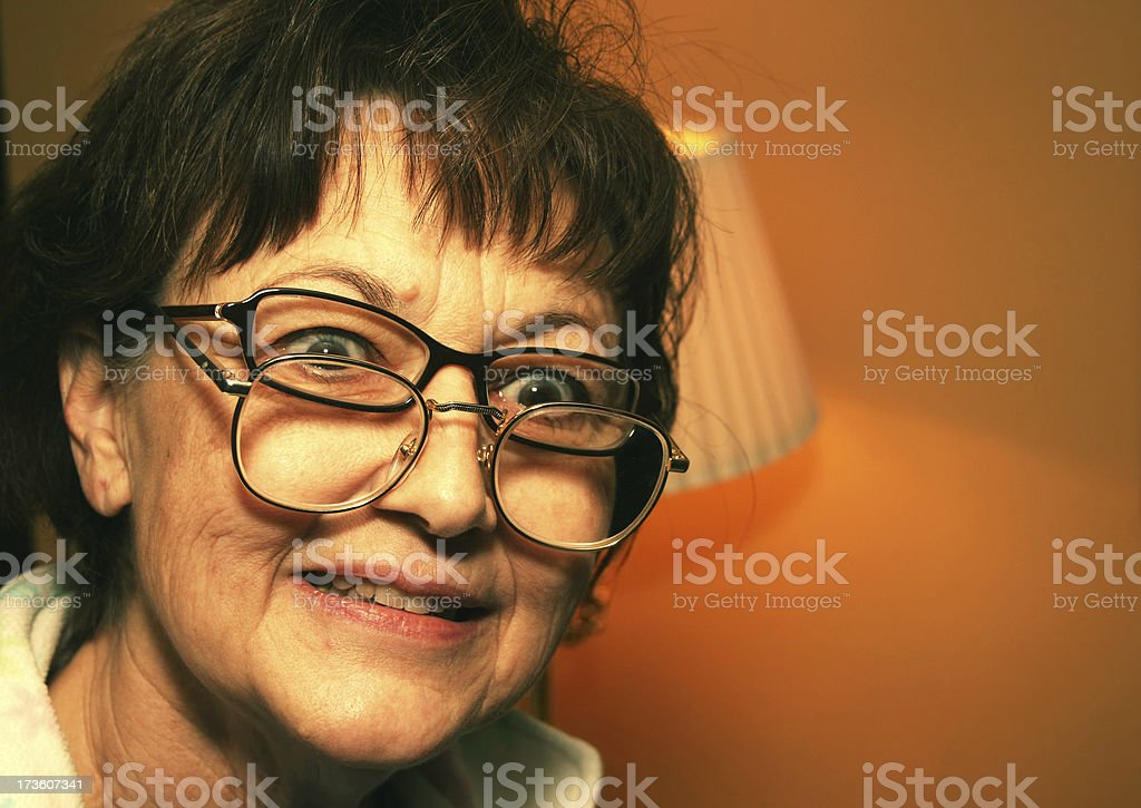 Crazy Lady stock photo
