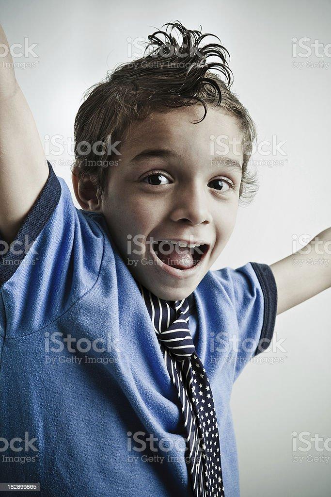 Crazy Little Boy stock photo