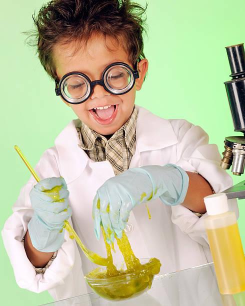 Crazy poco químico - foto de stock