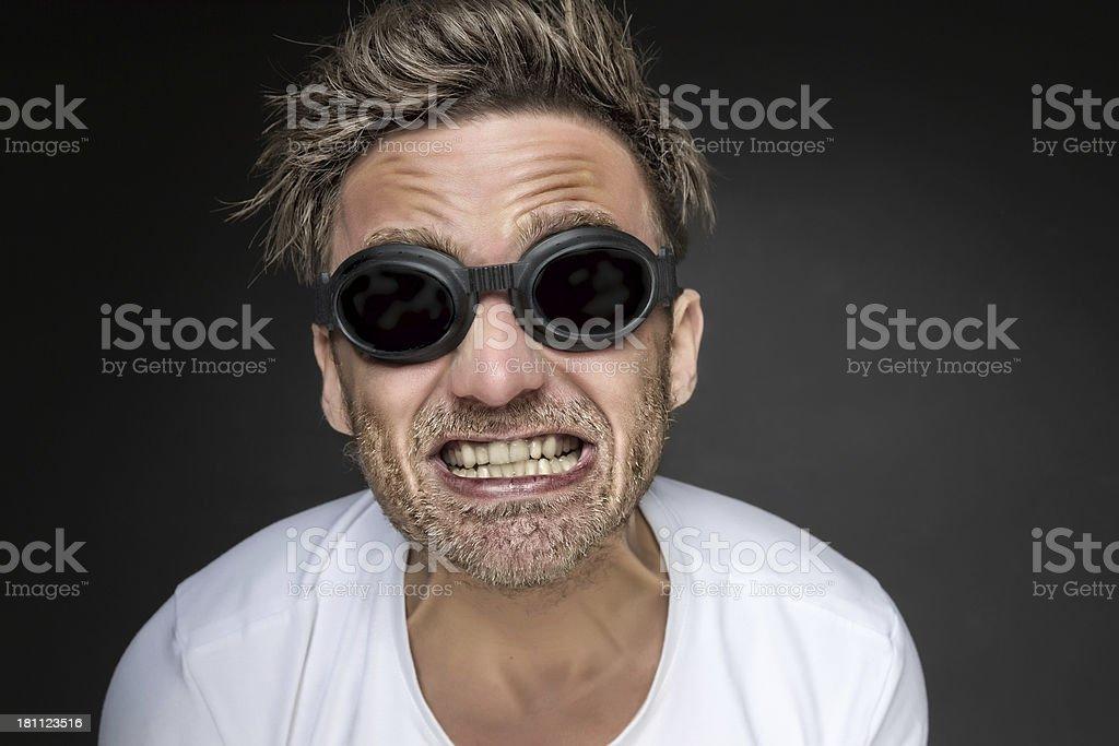 Crazy man royalty-free stock photo