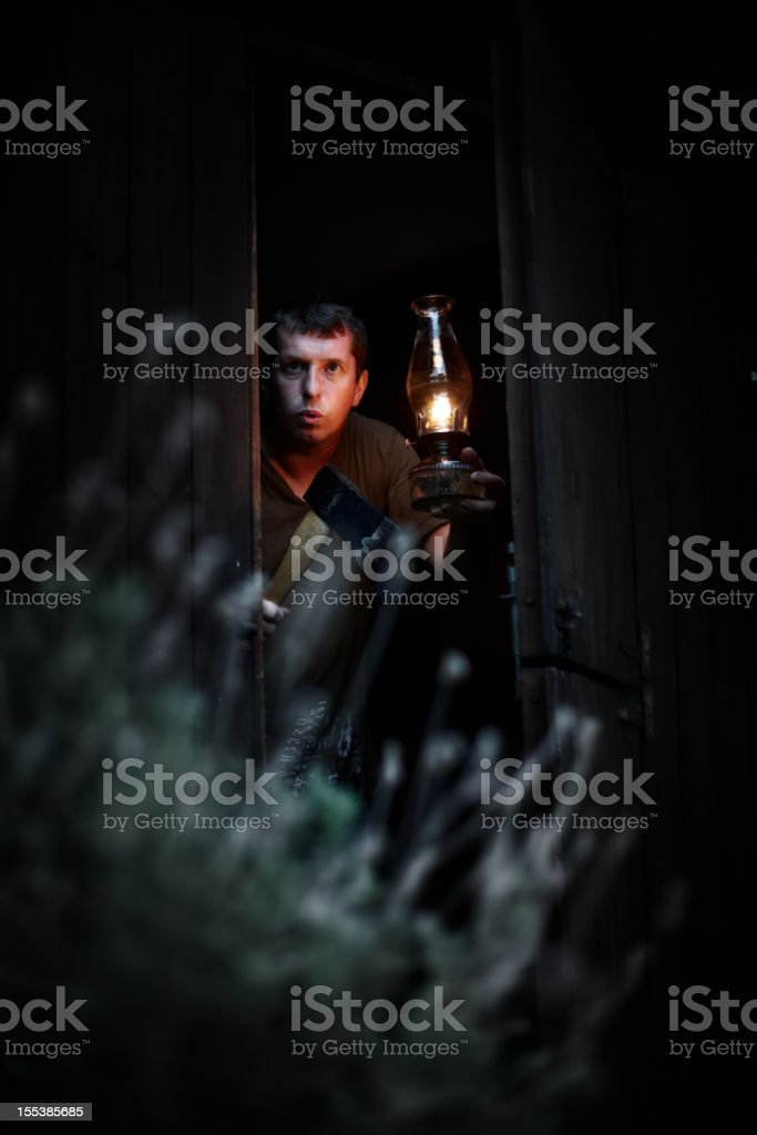 ... Crazy man with hatchet in wood cabin at night stock photo ...  sc 1 st  iStock & Hatchet Lighting Pictures Images and Stock Photos - iStock azcodes.com