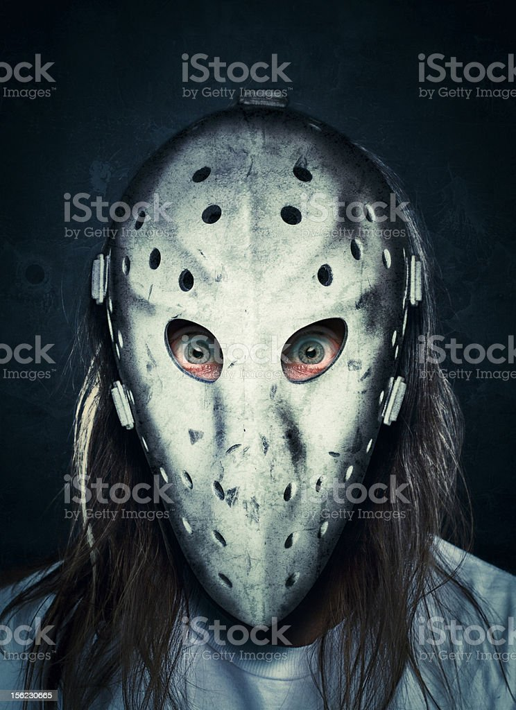 Crazy Masked Man stock photo