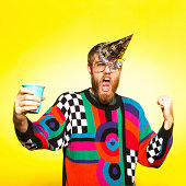 istock Crazy New Years Party Guy 171581348