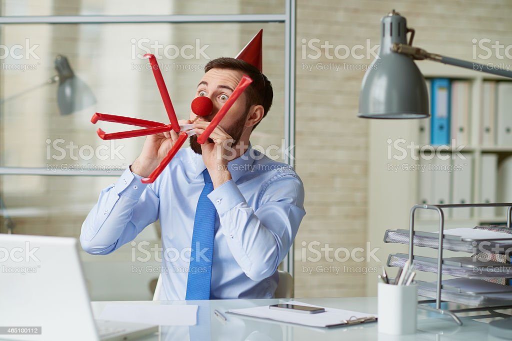 Crazy office party stock photo
