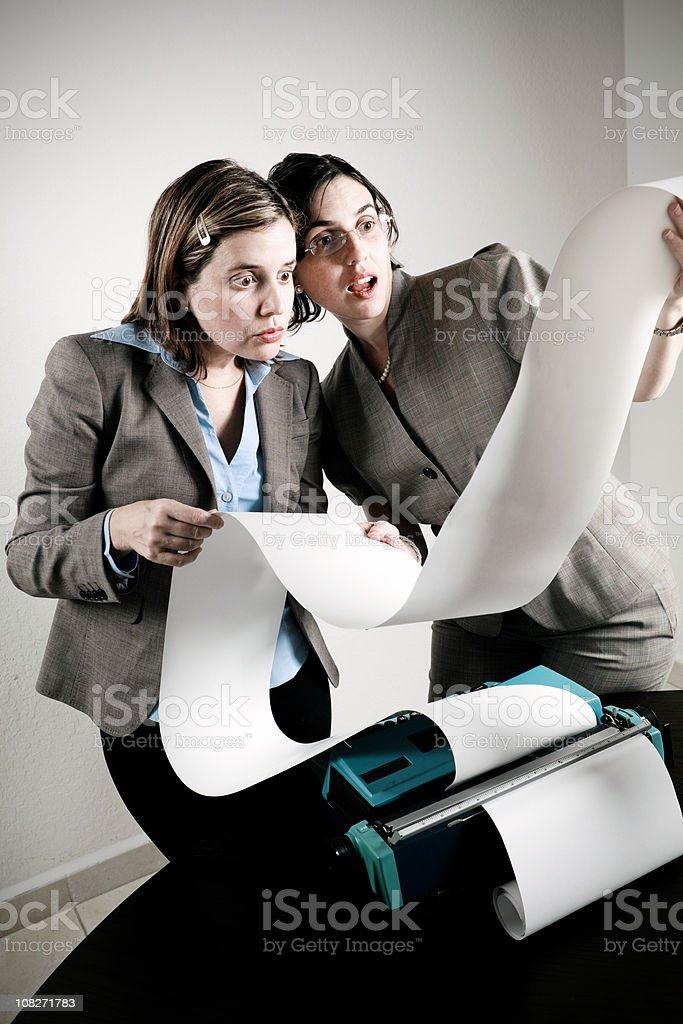 crazy office work royalty-free stock photo