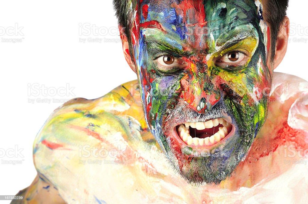 Crazy Painter stock photo