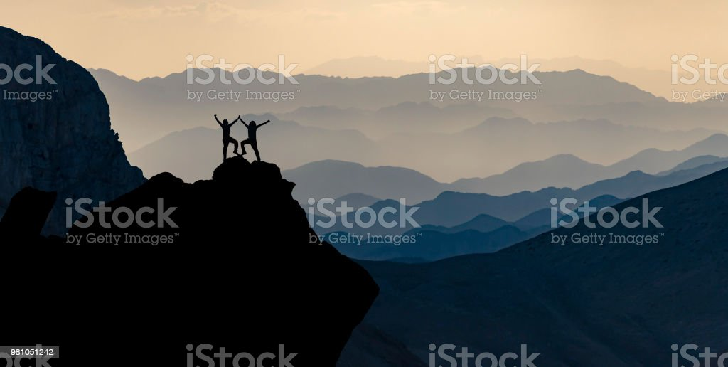crazy people who have succeeded together and a terrific concept stock photo