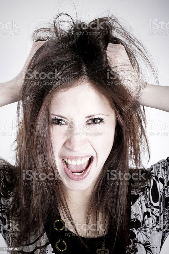 Crazy ! royalty-free stock photo