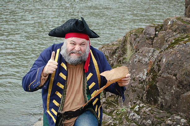 crazy pirate - swashbuckler stock photos and pictures