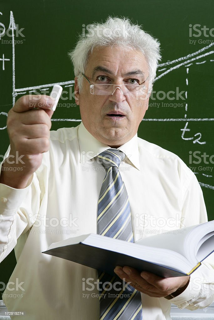 Crazy professor royalty-free stock photo