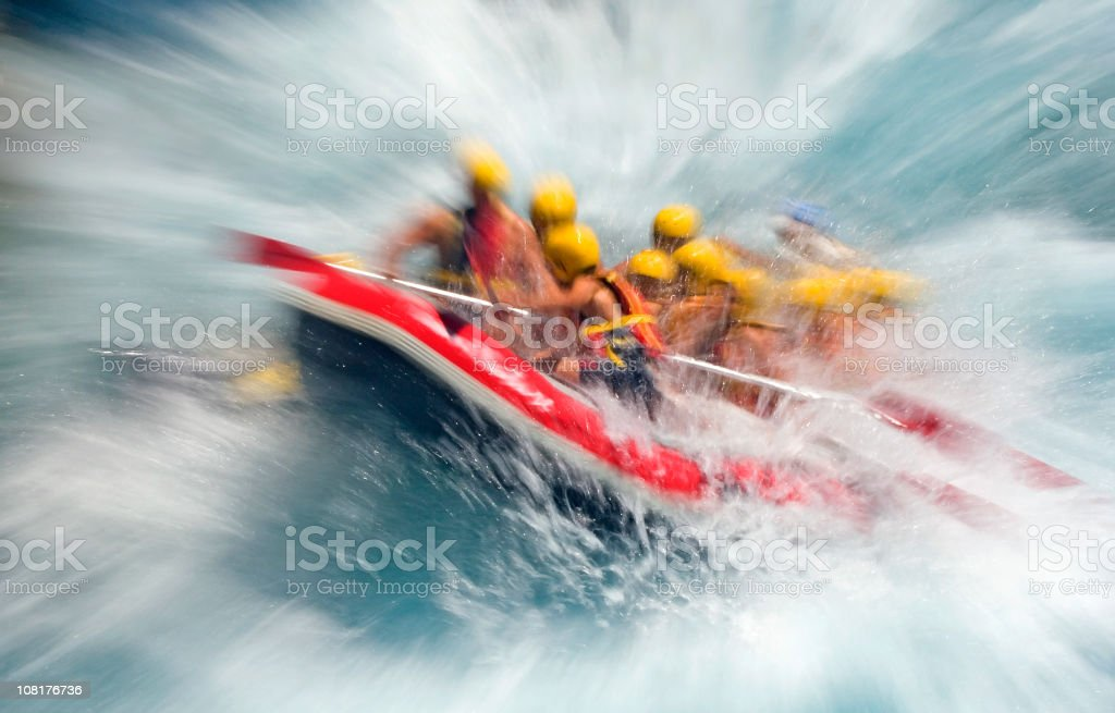 Crazy Rafting royalty-free stock photo